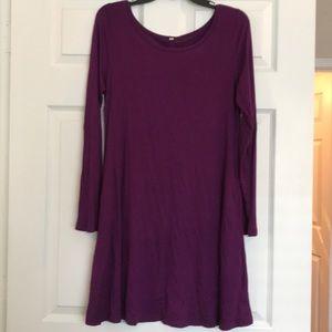Long sleeve t Shirt dress